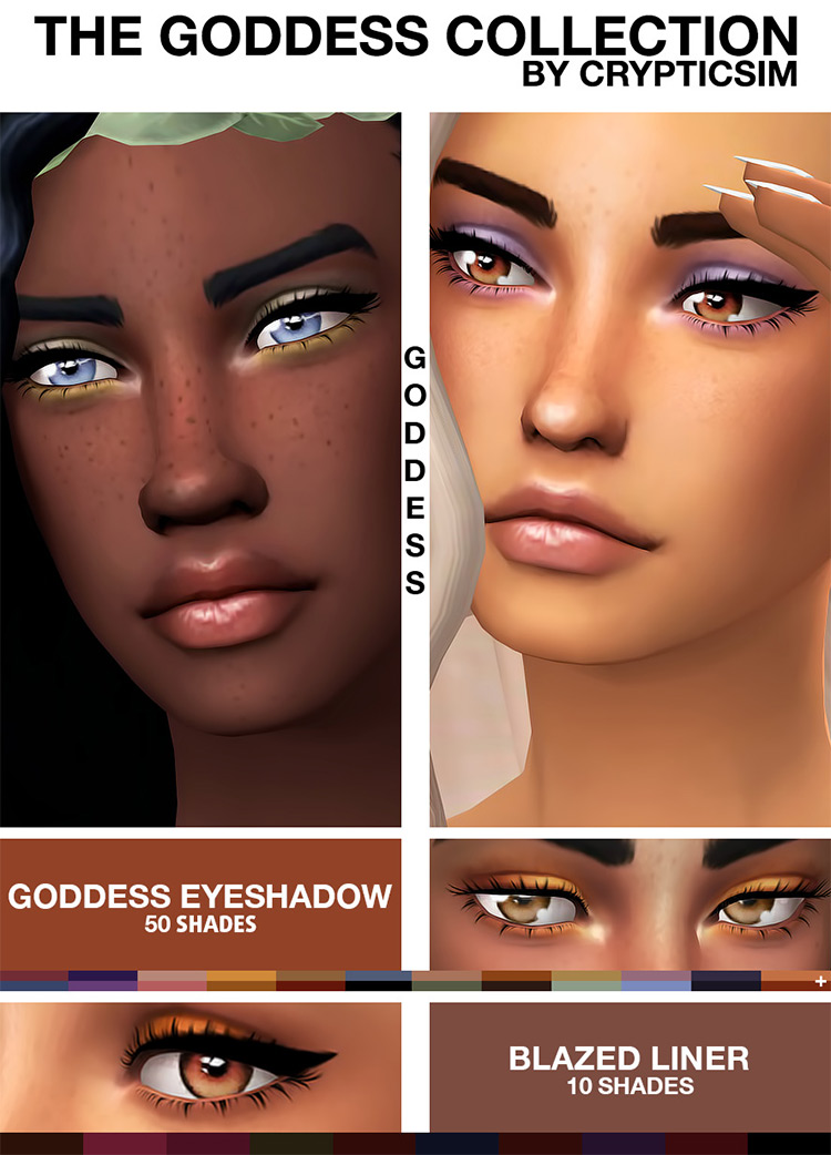 The Goddess Collection Sims 4 CC Pack
