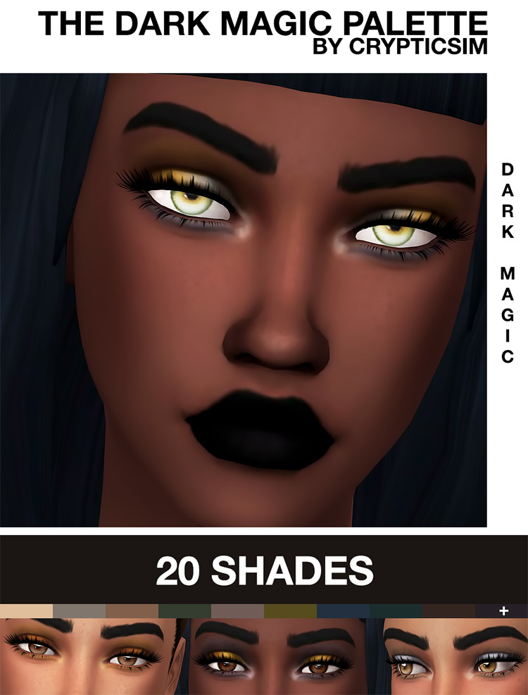 The Dark Magic Palette from Sims 4