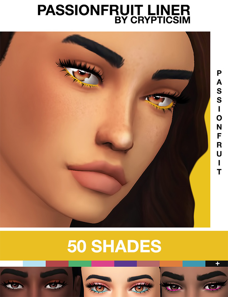 Passionfruit Liner CC Pack Sims 4 screenshot