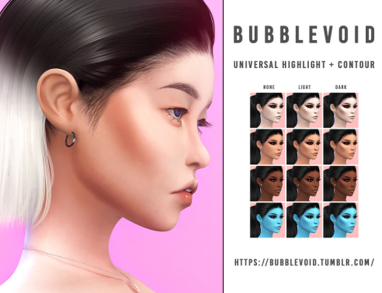 Universal Contour + Highlight CC Pack from Sims 4
