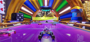 Team Sonic Racing screenshot of purple racetrack
