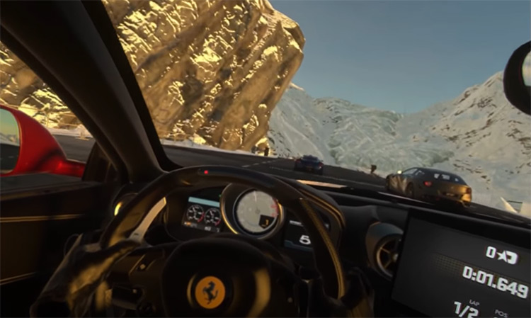 DriveClub VR racing game