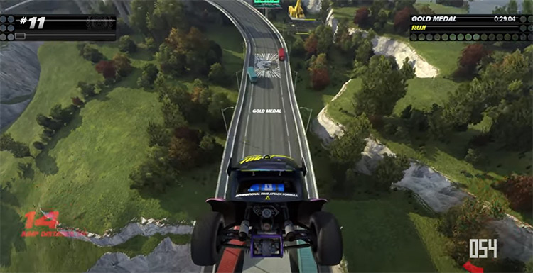 Trackmania Turbo gameplay