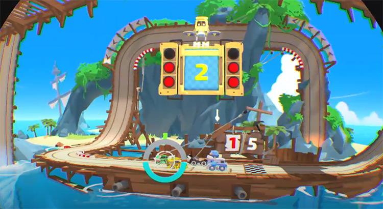 Tiny Trax racing game screenshot