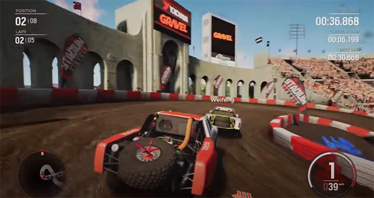 Gravel racing game screenshot