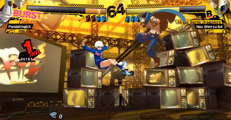 Persona 4 Arena gameplay screenshot