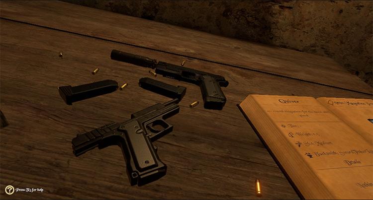 Fisher's Semi-Auto Pistols Blade & Sorcery mod