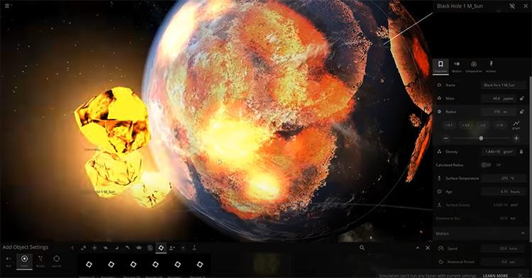 Universe Sandbox game screenshot