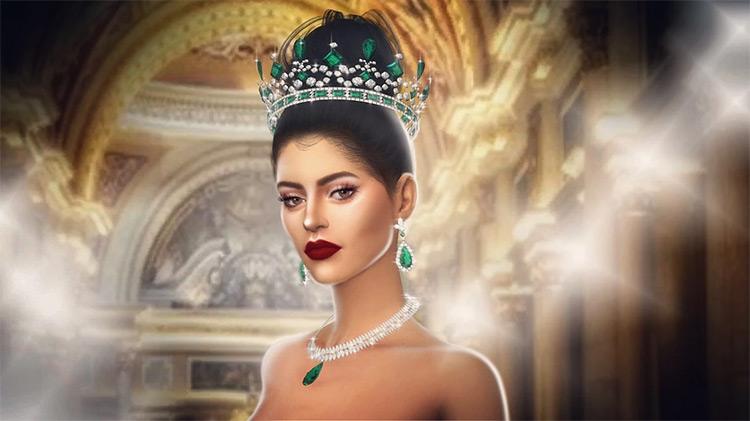 Victoria's Emerald Tiara CC Sims4