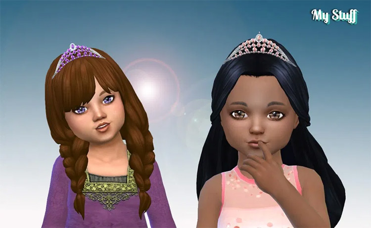 Sparking Tiara for Toddlers CC TS4