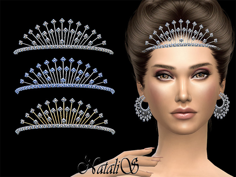 Winter Tiara CC for Sims 4