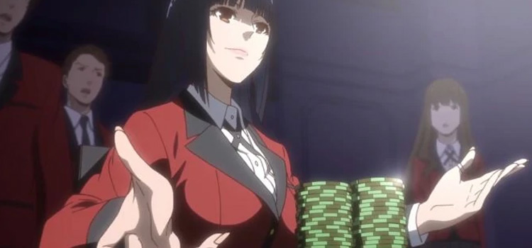 Kakegurui anime table gambling chips - screenshot