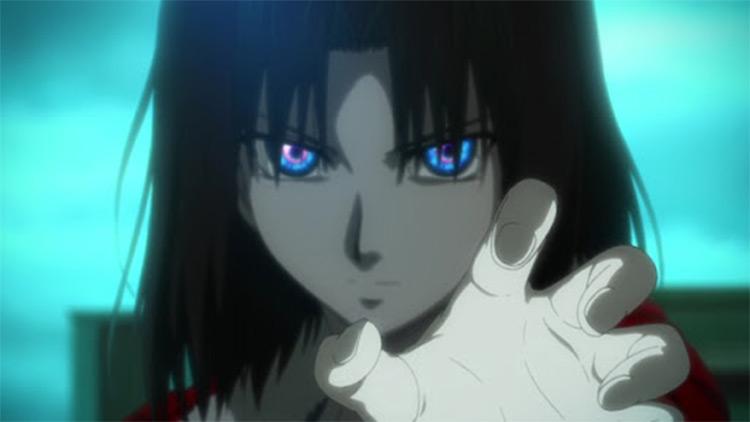 Shiki Ryougi in Garden of Sinners - Anime Screenshot
