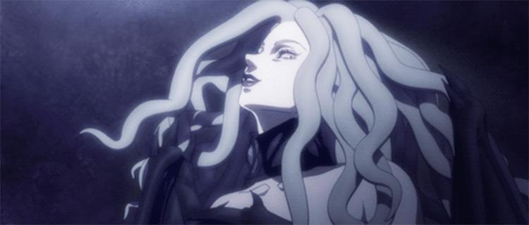 Slan, medusa hair style demon in Berserk - screenshot