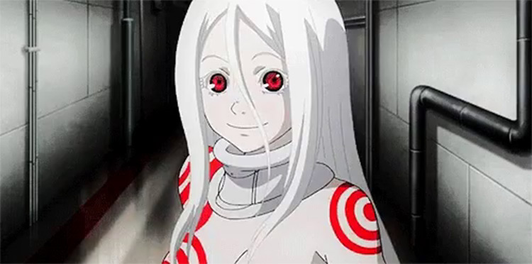 Shiro character in Deadman Wonderland - Screenshot