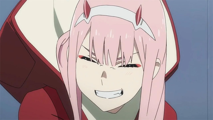 Zero Two pink-haired girl - Darling in the Franxx screenshot