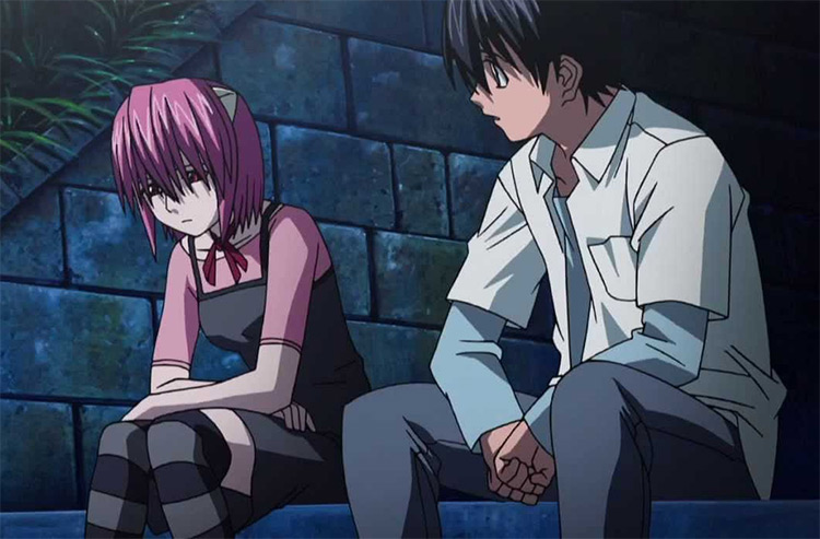 Lucy in Elfen Lied Anime Screenshot