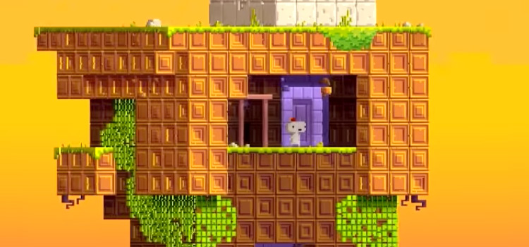 Fez gameplay screenshot on PS4