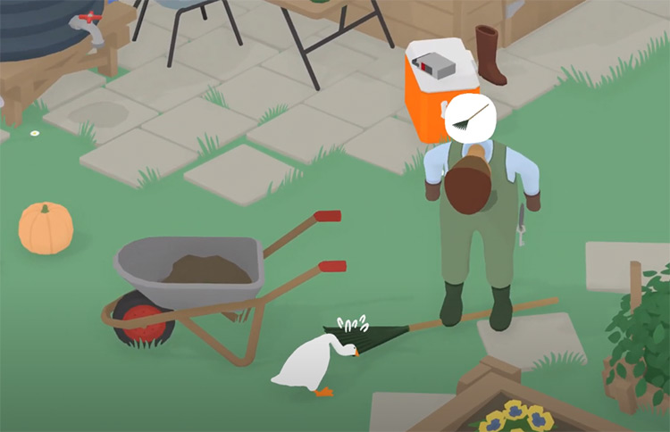 Untitled Goose Game on PS4 - gameplay screenshot