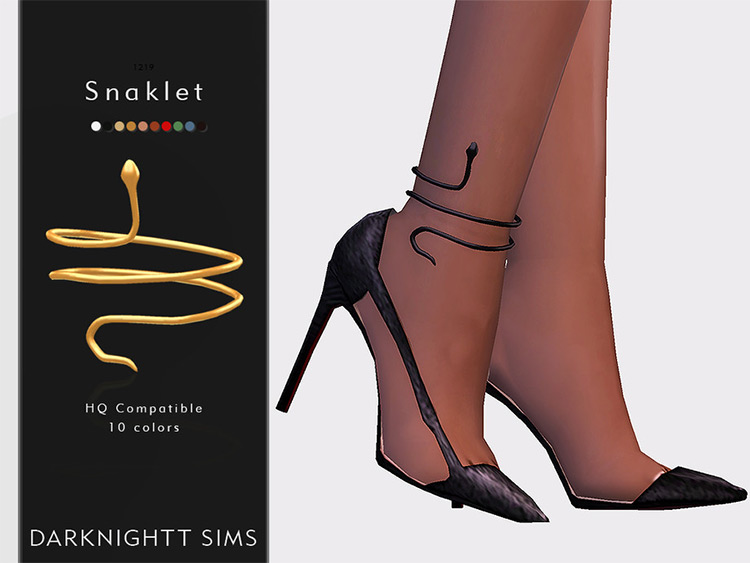 Snaklet anklet design for The Sims 4