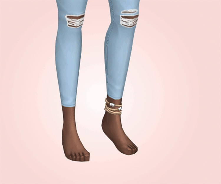 Anklet Collection CC mod for Sims4