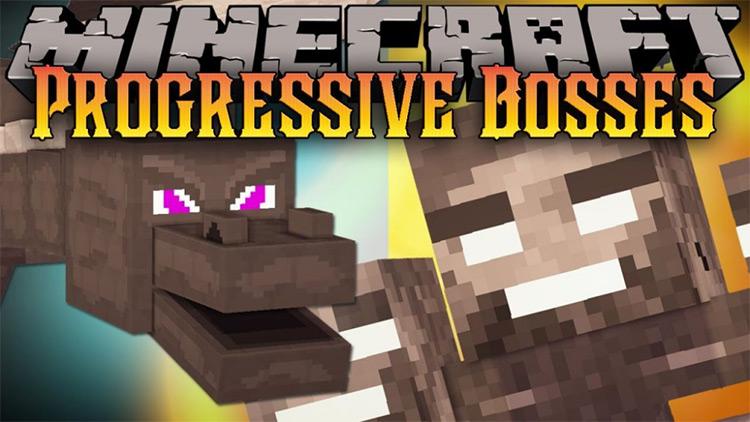Progressive Bosses Minecraft mod