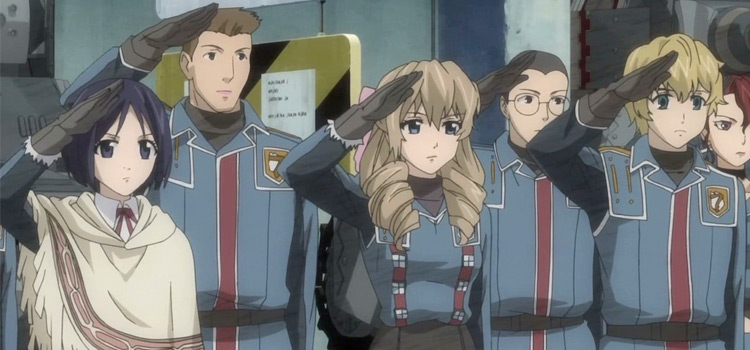 Gallian Armed Forces Salute - Valkyria Chronicles Anime