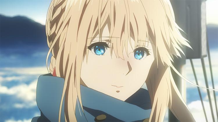 Violet Evergarden blonde girl anime screenshot