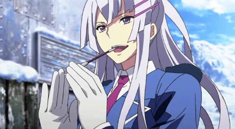 Heavy Object White-Haired Girl - Anime Screenshot