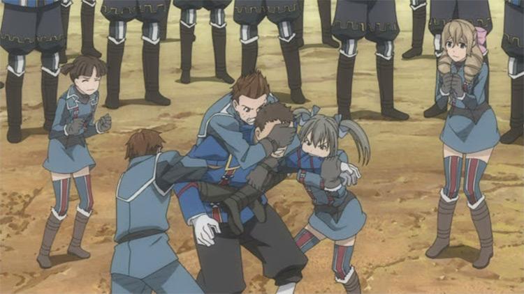 Valkyria Chronicles Anime War Screenshot
