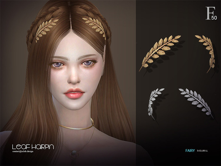 Leaf Hairpin in Sims 4 CC