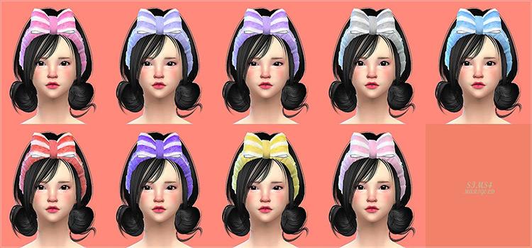 Korean Face Wash Headband with Hairbow CC