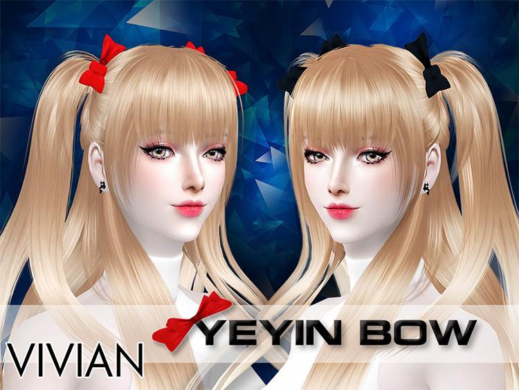 Yeyin Hairbow Sims 4 CC