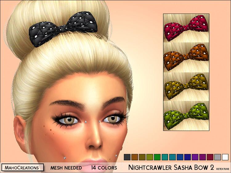 Nightcrawler Sasha Bow Hair CC