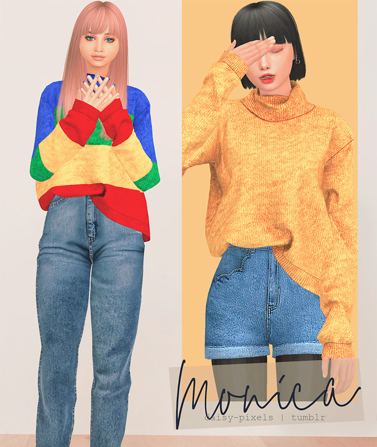 Monica Sweater - Sims 4 CC Preview