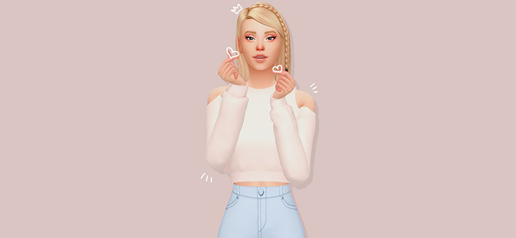 Off-the-Shoulder Sweater CC for TS4