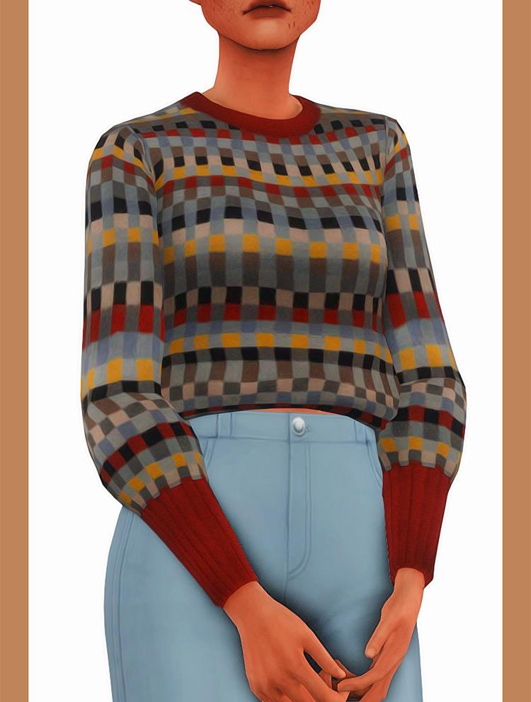 Brooke Sweater Odd Patterns - Sims 4 CC