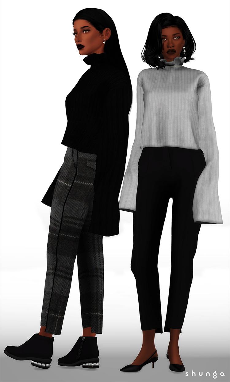 Christmas-y fun Golden Goose Sweater - Sims 4 CC