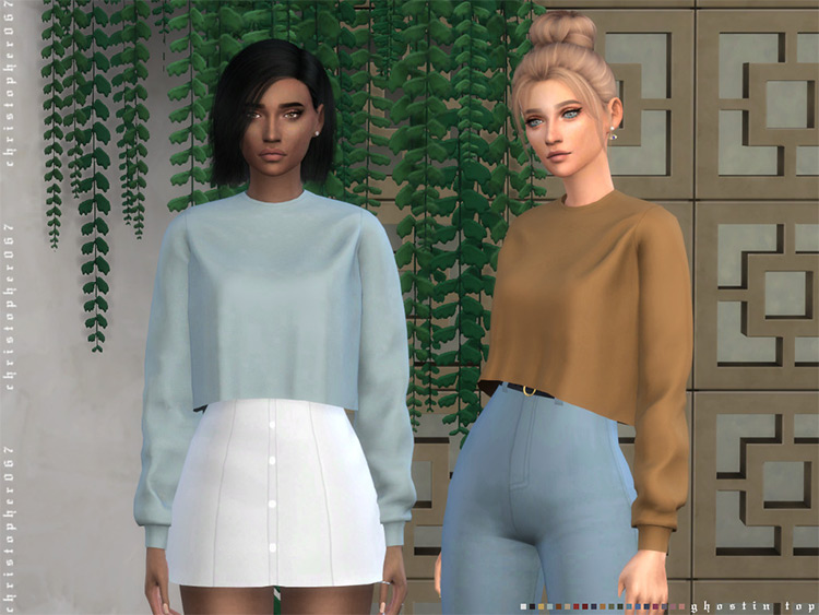 Ghostin' Tops for TS4 CC