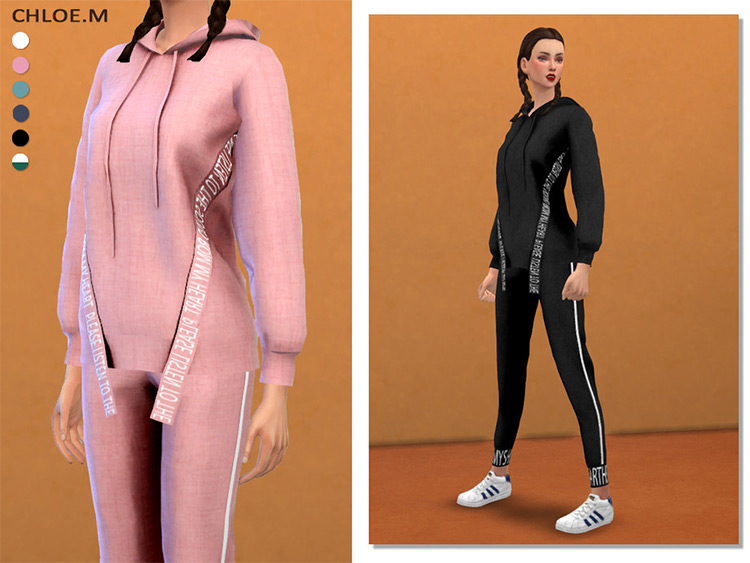 Sports Hoodie with pants - The Sims 4 CC