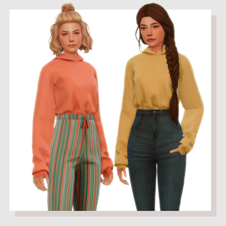 Tucked-In Hoodies - Colorful styles for TS4 CC