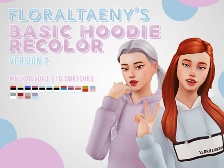 Typical Hoodie design - TS4 CC