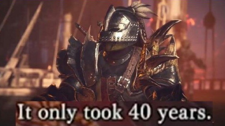 It only too 40 years MHW meme