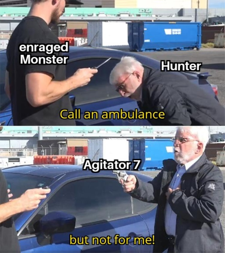 Call an ambulance, but not for me, meme MHW