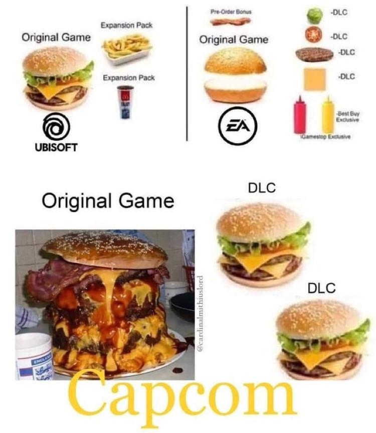 Campcom original games vs dlc
