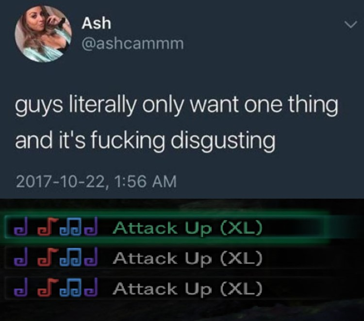 Guy only want one thing MHW - Attack up XL