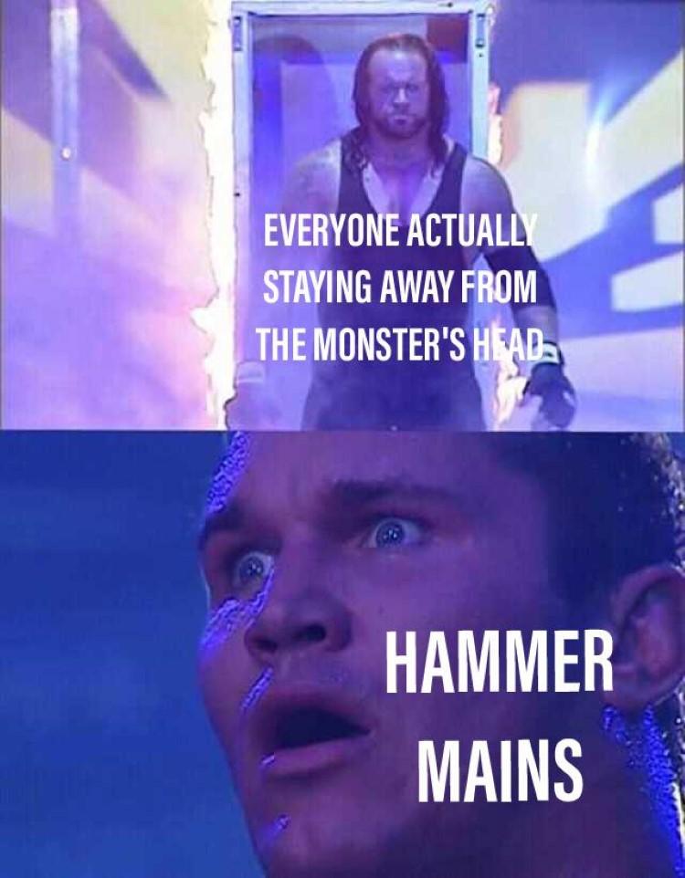 Hammer mains Undertaker MHW crossover