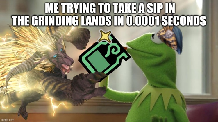 Trying to sip grinding lands 0.0001 seconds