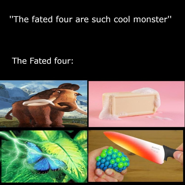 The fated four joke