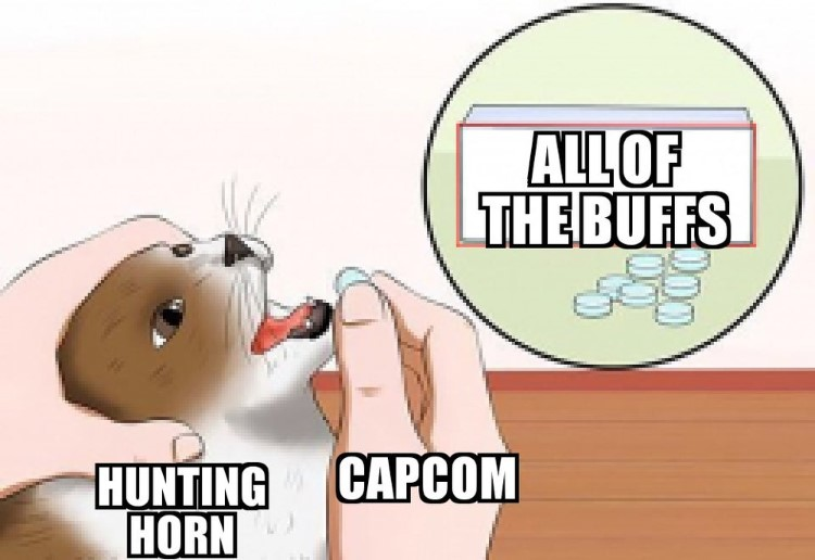 All of the buffs eating them meme